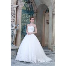 ED Bridal A-line Sweetheart Tulle Bride Gown Lace Applique Vestido de casamento branco 2017