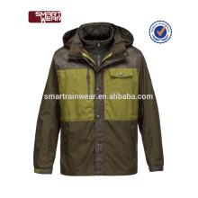 Chaqueta desmontable de marca de hombre de alta calidad 3 en 1 chaquetas de invierno