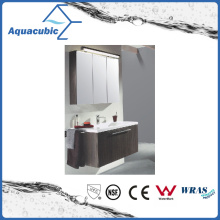 Bathroom Vanity in Chocolate with Ceramic Basin in White (ACF8936)