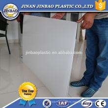 jinbao fábrica de plástico blanco extrusora pp tablero / placa / hoja