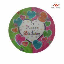 Birthday Colorful Paper Plate