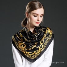 Pure Silk Printed Scarf for Women