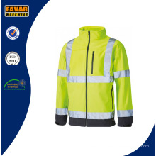 Softshell Waterproof Hi Vis Jacket with Reflective Stripes