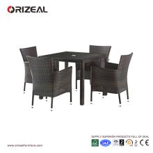 Ensemble de salle à manger 4 places en rotin extérieur OZ-OR063