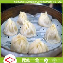 Papel de vapor antiadherente recubierto de silicona de 4.5 pulgadas para vapor de bambú