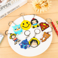 Comfortable new design silicone custom keychain
