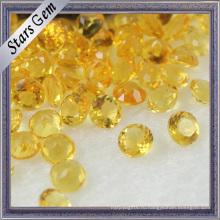 Желтая круглая форма Драгоценные камни