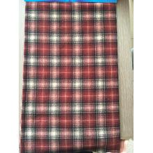 Multisquares polar fleece fabric material with anti pilling