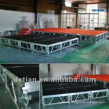 Shanghai Supplier modulare Flachdach Traversen Fachwerk hängende LED-Anzeige quadratischen Bühne Fachwerk