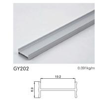 Pista de armarios de aluminio en plata anodizada