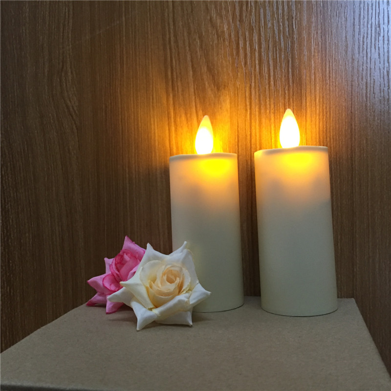 plastic moving wick led candle