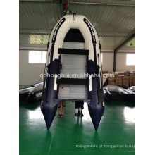 Barco de borracha barato barco inflável com Motor de popa