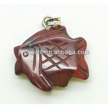 Fischform Rot Jaspis Anhänger