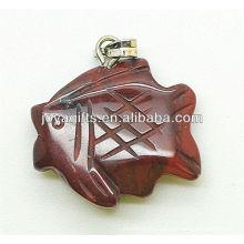 Fish Shape Red Jasper Pendant