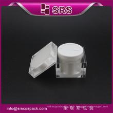 J053 crème de lotion en forme carrée, crème pour soins de la peau jar acrylique