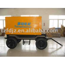 diesel generator, Four-wheel trailer mobile power station