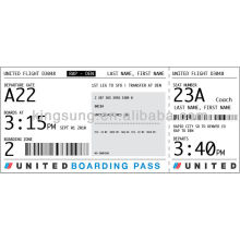 thermal direct boarding pass check and luggage tag