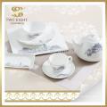 Набор для посуды ручной работы из фарфора 72 шт., Набор блестящих столовых принадлежностей для подарка