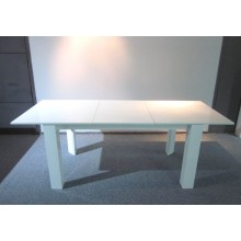 Contemporary wooden dining table set extendable