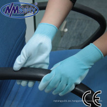 Guante de trabajo eléctrico NMSafety Blue Polyester Coated PU
