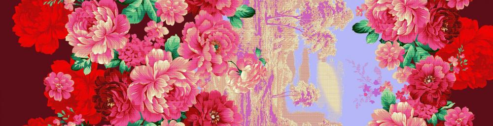 cotton designs flower reactive fabrics