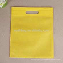 Sac en plastique non tissé réutilisable jaune réutilisable en gros en vente
