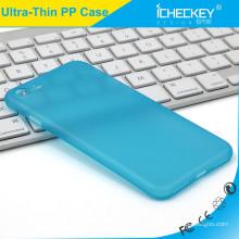 Icheckey ultra-fino claro PP phone phone phone capa azul para o iPhone