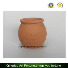 Candelero de cerámica al aire libre-arcilla natural Forma de bulto de arcilla