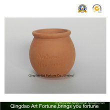 Outdoor-Natural Candle Holder-Clay Ceramic Pot Bulge Shape