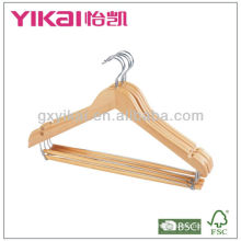 Wooden Suit Hanger with round bar