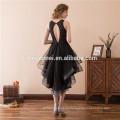 Кружева ласточкин хвост Бабочка свадебное платье кружева с коротким вечернее платье короткий передний долго назад Cap рукавом формальное вечернее платье