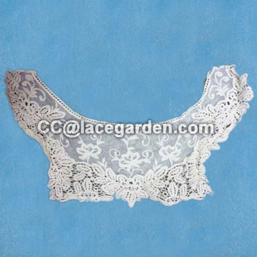 Embroidery Cotton Mesh Collar Lace