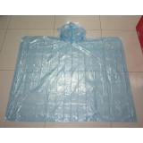 Blue color PE disposable rain poncho