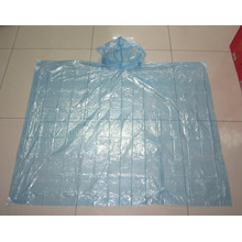 Blue color PE disposable rain poncho