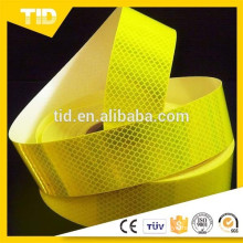 Cinta de advertencia de seguridad reflectante, verde amarillo fluorescente, grado de diamante