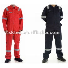 Cotton and polyester flame retardant overall with Anti-static