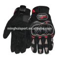 Minghui buena calidad guantes de montar ventas calientes karting carreras guantes de moto