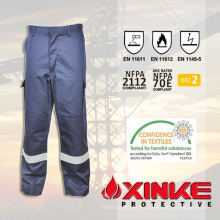 pantalones de carga ignífugos de poliéster de algodón
