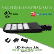 Promotion Fotozelle Option UL cUL aufgeführt 130LM / W Retrofit 240W Parkplatz LED Shoebox Licht