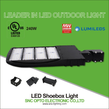 Promotion Photocell option UL cUL listed 130LM/W retrofit 240W parking lot LED Shoebox light