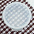 Recipiente de alimento de vidro de tampa de silicone transparente