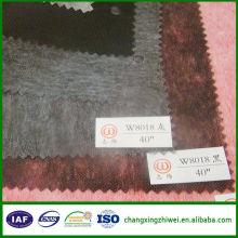 China hizo buena reputación Tela vendedora caliente del tejido de algodón