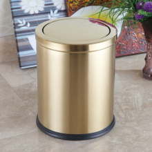 Golden Round Stainless Steel 12L Swing Waste Bin (F-12LJ)