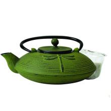 Alta calidad Custom Antique Cast Iron Enamel Coated Tea Pot