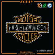 Motor Harley Davidson Cycles rhinestone motif
