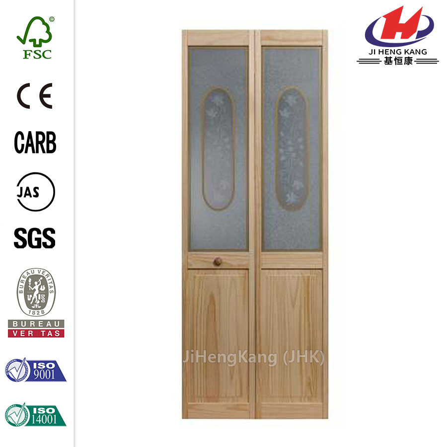 Glass Victorian Wood Reversible Bi-fold Door