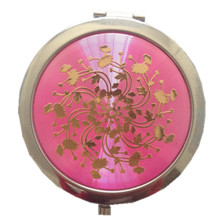 Эпоксидное рекламное металлическое карманное зеркало (BOX-13)