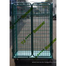Schwerlast-Stahl-faltbarer Rollen-Behälter für Verkauf