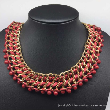 Collier de grande chaîne de gloire de diamant rouge (XJW13751)