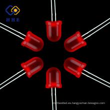 Venta caliente productos 10mm rojo difuso redonda lámpara led